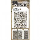 MTHS035 Stampers Anonymous Tim Holtz Layering Stencil - Mini Stencil Set #35